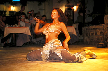 One young belly dancer, Bodrum, Turkey