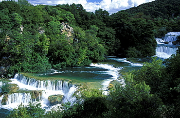 Krka Waterfalls, Knin Valley, National Park Krka, Dalmatia, Croatia