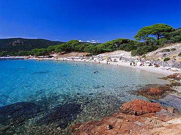 Plage de Palombaggio, Beach, East coast near Porto-Vecchio Corsica, France