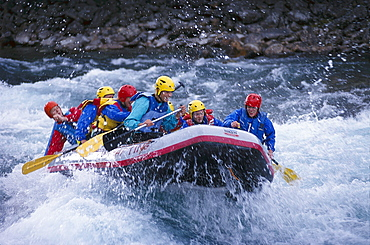 Rafting on the River Otta, Oppland, Norway