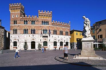 Palazzo degli Aldobrandeschi, Piazza Dante Alighieri, Grosseto Tuscany, Italy