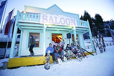 Apres Ski at the Pub Saloon, Laax Murschetg, Grisons, Switzerland