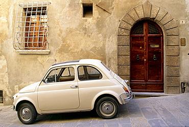 Fiat 500, Vintage Car, Montepulciano, Tuscany, Italy