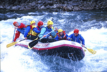 Rafting on River Otta, Western Middle Norway