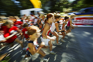 Children at the start of a race, Competition, Running, Sport