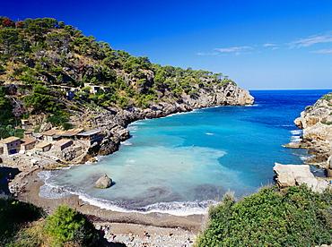 Cala Dey·, beach near Dey·, Serra de Tramuntana, Mallorca, Majorca, Balearic Islands, Mediterranean Sea, Spain
