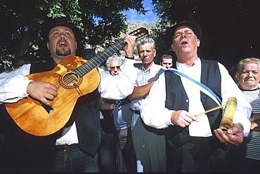 Folk music, Romeria, village feast, Santa Lucia, Gran Canaria, Canary Islands, Spain