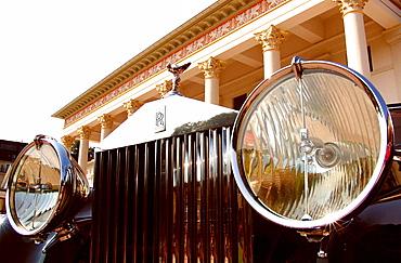 Rolls Royce in front of the Casino, Baden-Baden, Baden-Wuerttemberg, Germany, Europe