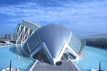 Modern buildings at the City of Arts and Sciences, Valencia, Spain, Europe