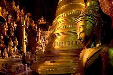 Shwe U Min Pagode, 8000 Buddhas, Burma, Myanmar