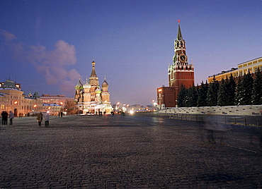 Saint Basil's cathedral with Kremlin, Red Square, Moscow, Russia