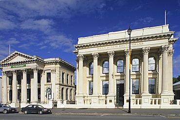 Historical buildings in the town of Oamaru, South Island, New Zealand, Oceania