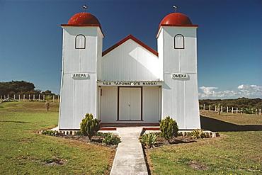 Ratana church of the Maori in the sunlight, North Island, New Zealand, Oceania