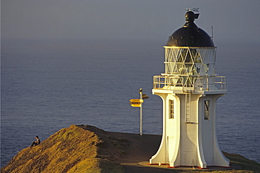 Cape Reinga Lighthouse in the evening light, North Island, New Zealand, Oceania