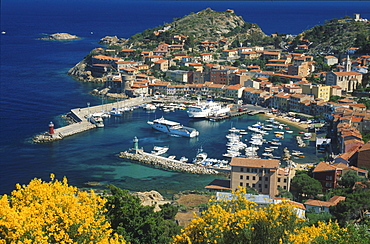 Harbour of Giglio, Giglio Island, Tuscany, Italy