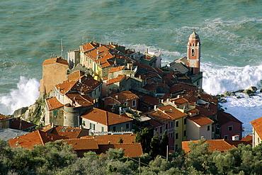 Village of Tellaro at the Mediterranean coast, Golf of La Spezia, Liguria, Italy