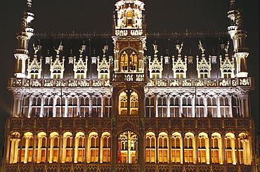 Hotel de Ville de Bruxelles, Stadthuis, Grote markt, architector Jacob van Tienen, town hall, Brussels, Belgium