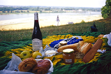 Picnic on the bank of Loire, Loire, Loire Valley, France