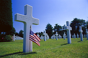 American military cemetery of Colleville-sur-Mer, Normandy, France