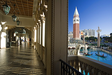 Evening shot of the Venetian Resort Hotel and Casino in Las Vegas, Nevada, USA
