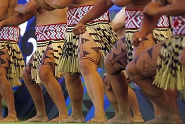Maori dance performance, Rotorua, Maoris at Rotorua Arts Festival, cultural performance, Rotorua, North Island, New Zealand