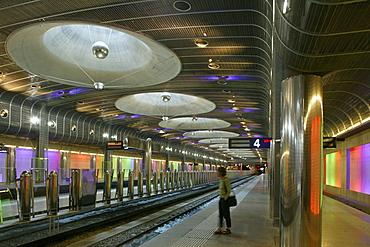 Interior design, Subway Station Britomart, central Auckland, architects Mario Madayag and Jasmax, Auckland, North Island, New Zealand