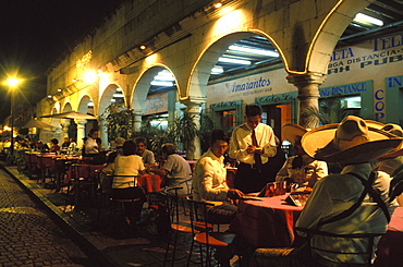 Charreaderas at Restaurant at Zocalo, Oaxaca, Central America, Mexico