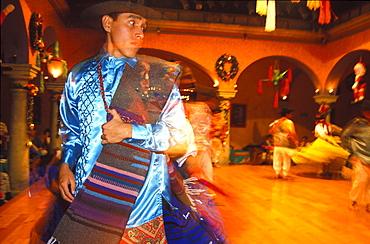 Gualguetza dancers at Casa Cantera, Oaxaca, Mexico, America