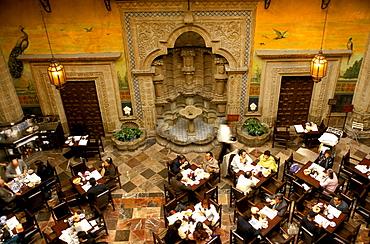People inside a restaurant at Casa de Azulejos, Centro Historico Mexico, America