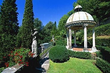 Parc, Villa Scherrer, Morcote, Lago di Lugano Tessin, Switzerland