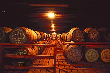 Glenfiddich whiskey distillery, Grampian Mountains, Scottish Highlands, Scotland, Great Britain