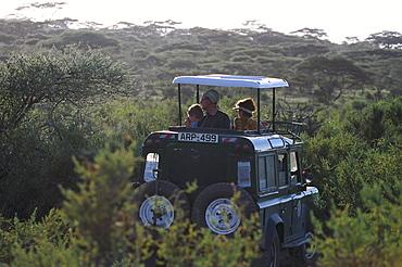 Safari Jeep with Tourists, Safari, Serengeti National Park, Tanzania, Africa