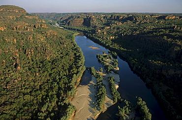 Aerial photo of East Alligator River, Arnhemland, Aboriginal land, Northern Territory, Australia