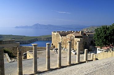 Lindos Akropolis, Dodekanes, Rhodos, Greece