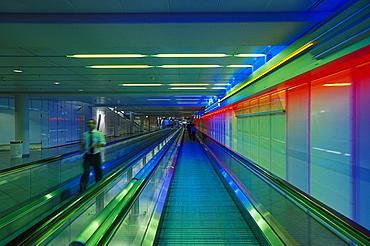 Interior view of Terminal 1 at Munich airport, Bavaria, Germany, Europe