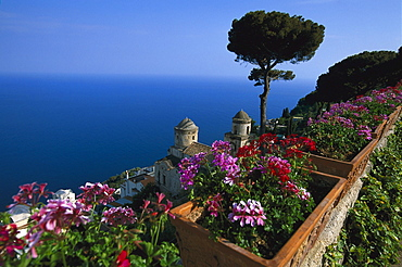 Seaview from Villa Ruffolo, Ravello, Amalfitana, Campania, Italy, Europe