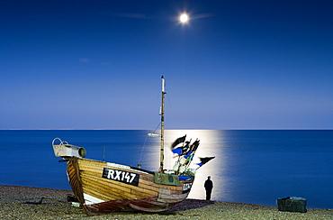 Beach in Hastings, East Sussex, England, Europe