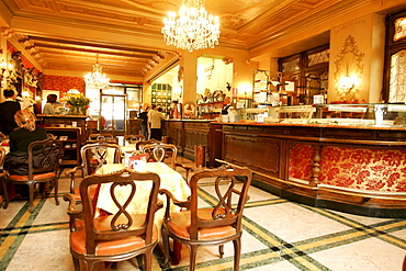 Interior view of the Cafe Torino, Torino, Piedmont, Italy, Europe