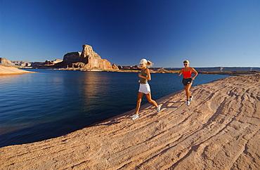 Jogging, Lake Powell, Arizona-Utah, USA