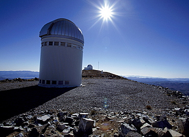 Observatory in the sunlight, La Serena, Chile, South America, America