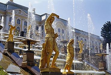 Great Cascade, Grand Palace, Peterhof, St. Petersburg, Russia