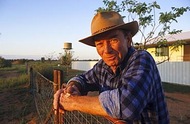 portrait, boundary rider, near the dog fence, South Australia, Australia