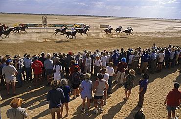Annual outback horse race in Birdsville, Birdsville, Queensland, Australia