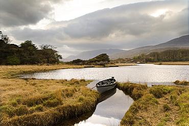 Mountain landscape in Killarney National Park, County Kerry, Ireland, Europe