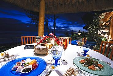 Private Dinner, Royal Villa, Hotel Oberoi, Mauritius
