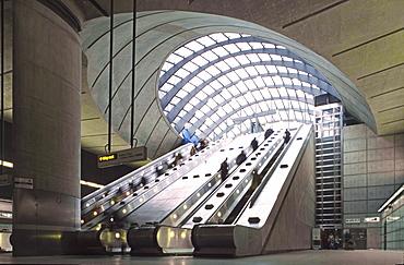 Canary Wharf tube station, London, Great Britain