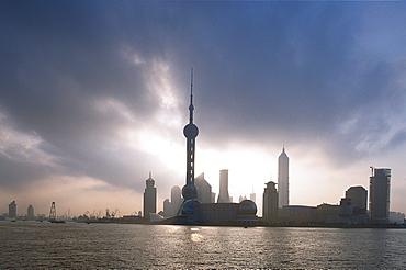 Skyline of Pudong, Bund, Shanghai, China