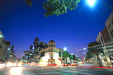 Rodeo Drive, Wilshire Boulevard, Beverly Hills, Los Angeles, USA