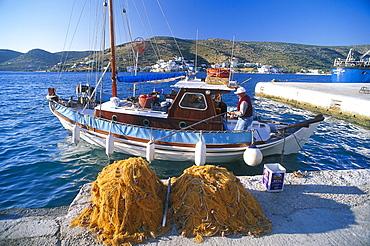 Harbour, Katapola, Amorgos, Cyclades, South Aegean, Greece