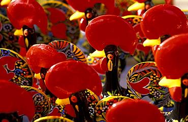Coloured roosters of clay, Barcelos, Braga, C·vado, Portugal
